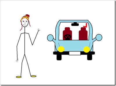 Me & Cartoon car front