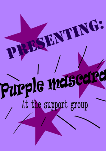 Purple mascara heading