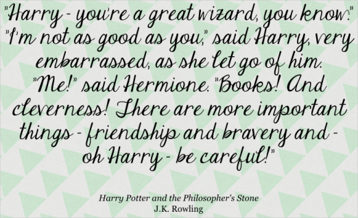 There's no upper limit to the amount of Harry Potter quotes it's appropriate to have on my blog! ;)