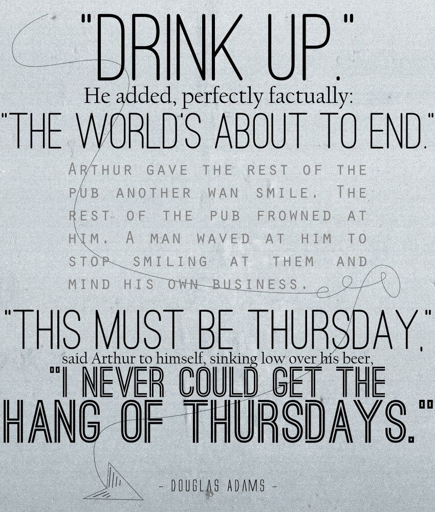Quote Saturday End Of The World Cc